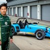 Caterham F1 driver, Kamui Kobayashi, had his first taste of a Caterham Seven when he put a 620R through its paces, recently.