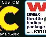 Free to enter competition gives a chance to WIN an Omex throttle body package worth £1100 in the current issue of TKC Mag...