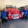 Sebring boss, Phil Overall (left), with race engineer, Geoff Kinston, who has devised new suspension and geometry for the Sebring International range of Healey replicas.