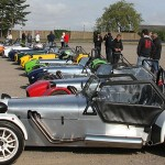 GBS Zero owners prepare to head off for their Sunday morning run out...